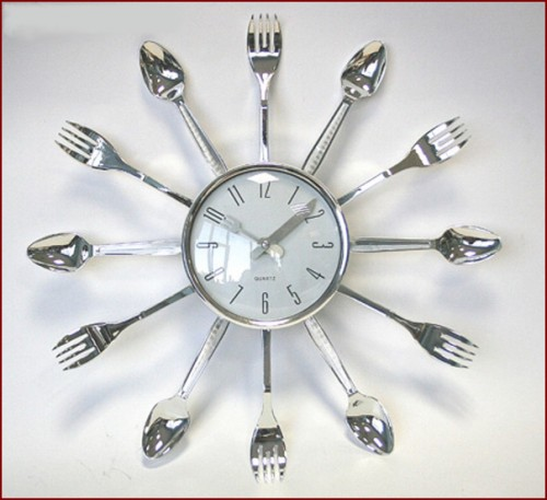 часы ложки вилки