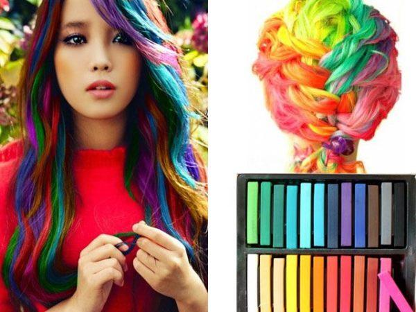 Набор мелков для волос из 12 цветов