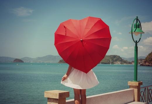 Зонт сердечко
