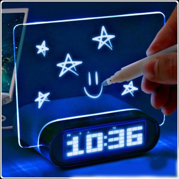 Часы-будильник Led с дисплеем для записей