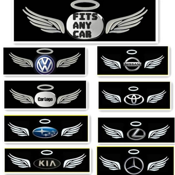 Наклейка 3D «Крылья ангела» на эмблему автомобиля