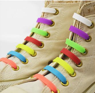 Силиконовые (резиновые) шнурки 6 шт