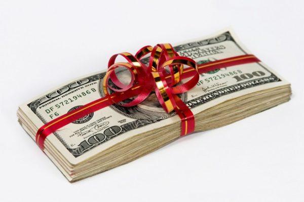 Доллары фальшивые сувенир