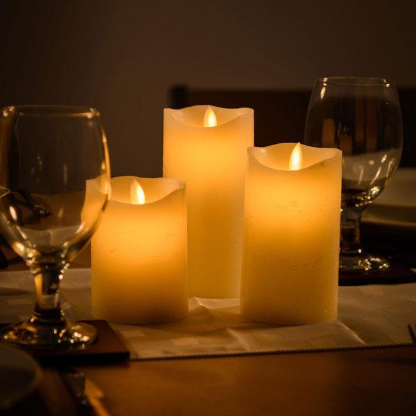 Светильник набор из 3 свечей с пультом управления