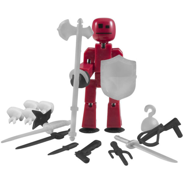 Стикбот с оружием и аксессуарами (Stikbot Weapon Pack)