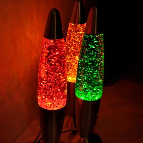 Светильник с блестками