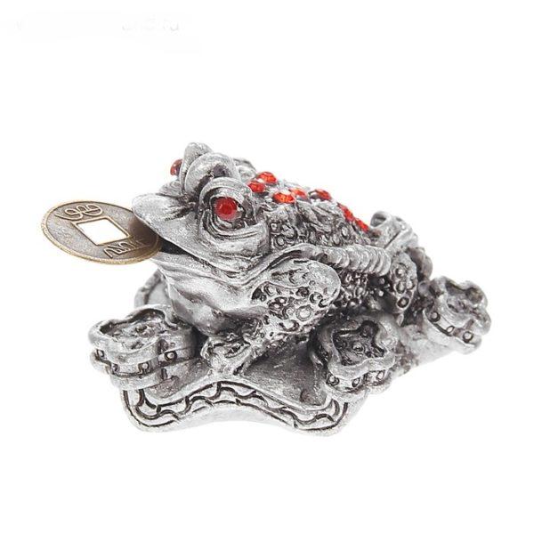 Статуэтка жаба с монеткой