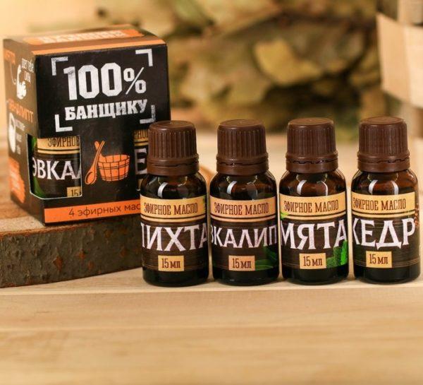подарочный набор аромамасел для бани