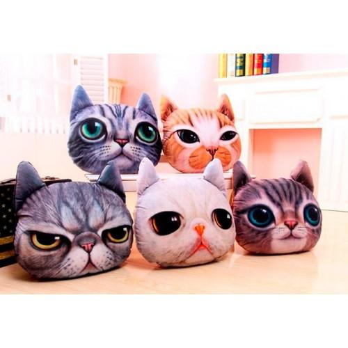 Подушка 3д кошка