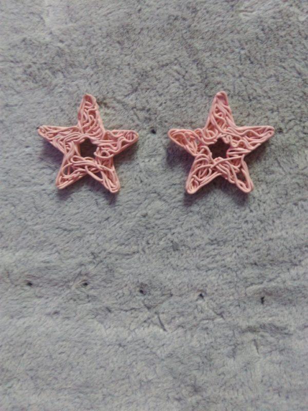 Серьги морские звезды