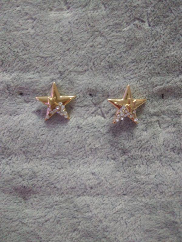 Серьги гвоздики звездочки