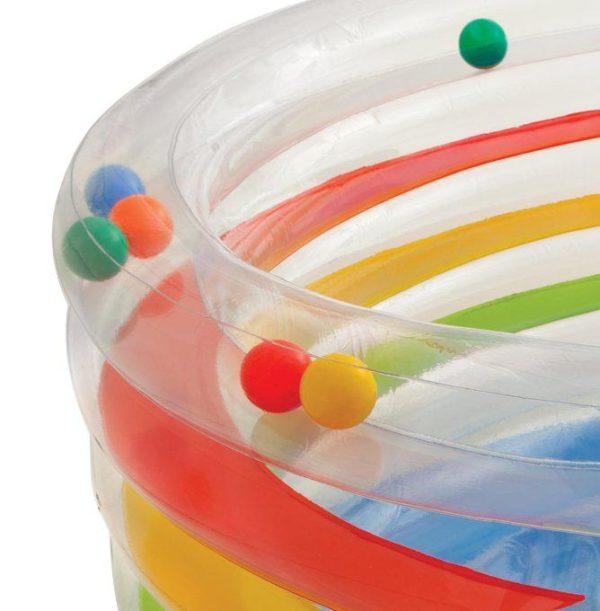 """Надувной батут для детей """"Прозрачный с шариками"""""""