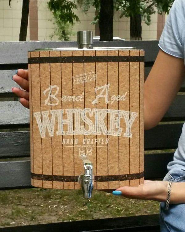 Большая подарочная фляжка для алкоголя