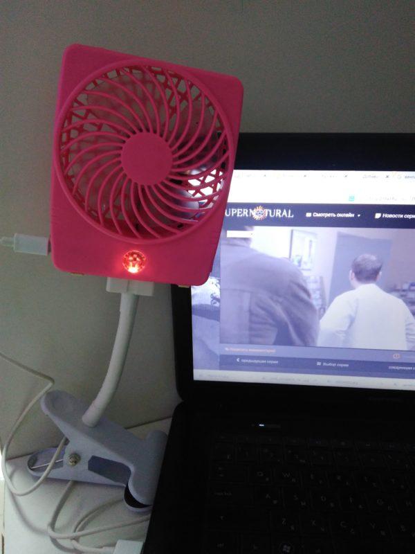 Вентилятор аккумуляторный на прищепке