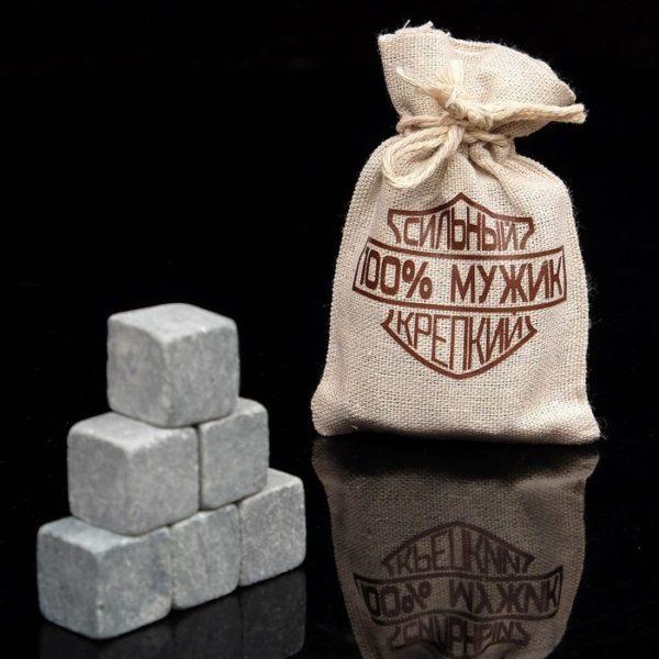 Камни для виски 6 шт в холщовом мешочке