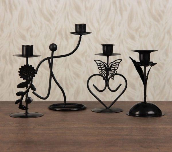 Оригинальные подсвечники на одну свечу