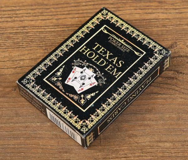 """Пластиковые карты для покера """"Texas Holdem Black"""""""