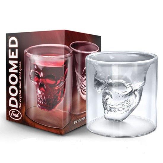 стакан череп с двойным стеклом
