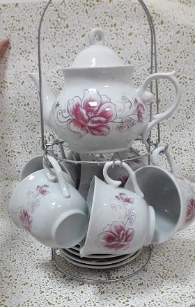 """Чайный набор """"Нежный цветок"""" с подставкой"""