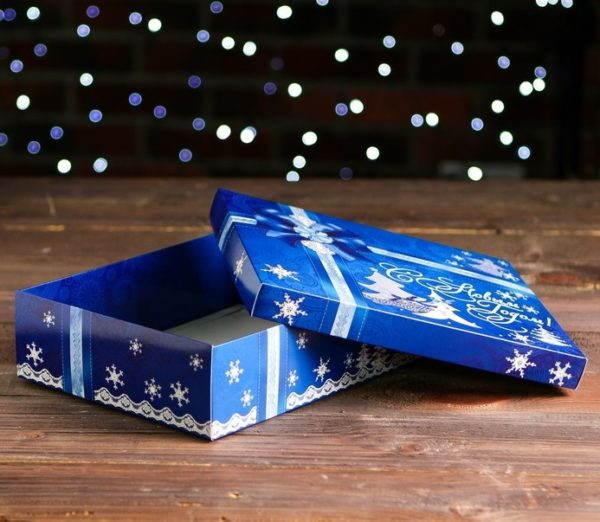 """Коробка картонная """"Синяя"""""""