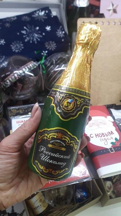Шоколад в форме шампанского
