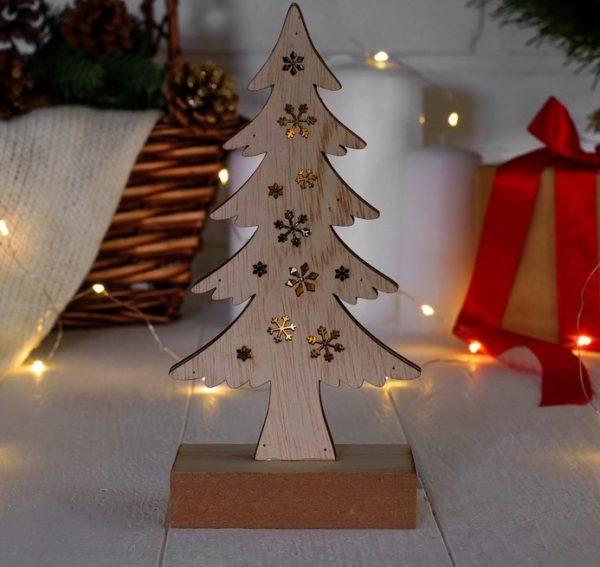 новогодний декор светящаяся елка