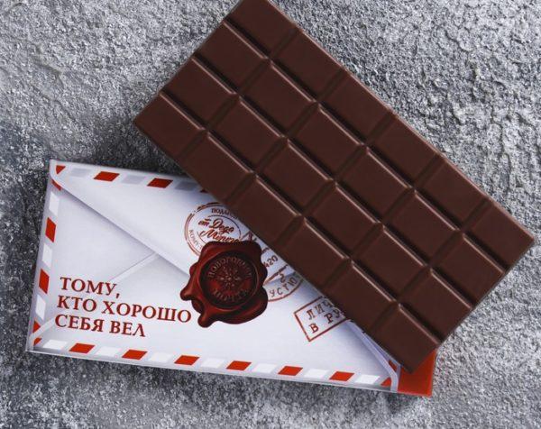 Набор чай и шоколад «Почта Новогодняя»