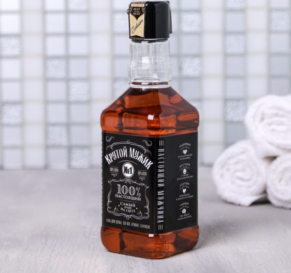 гель для душа в виде виски