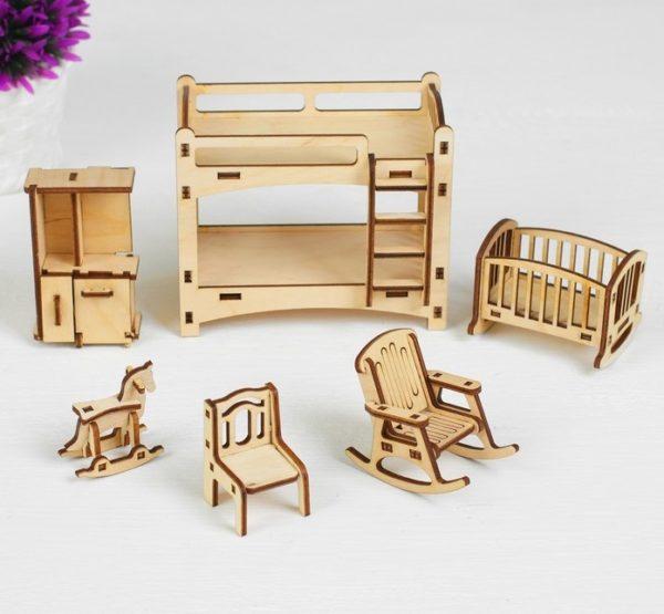 кукольная мебель из дерева