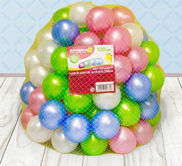 красивые шарики для сухого бассейна